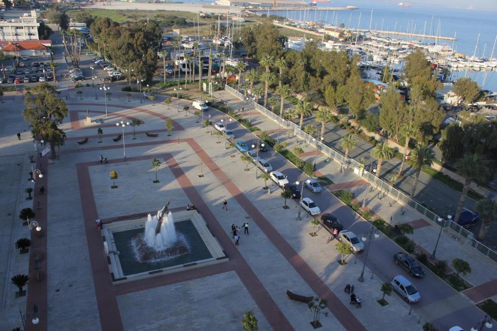 View from Balcony of Palm Tree Promenade
