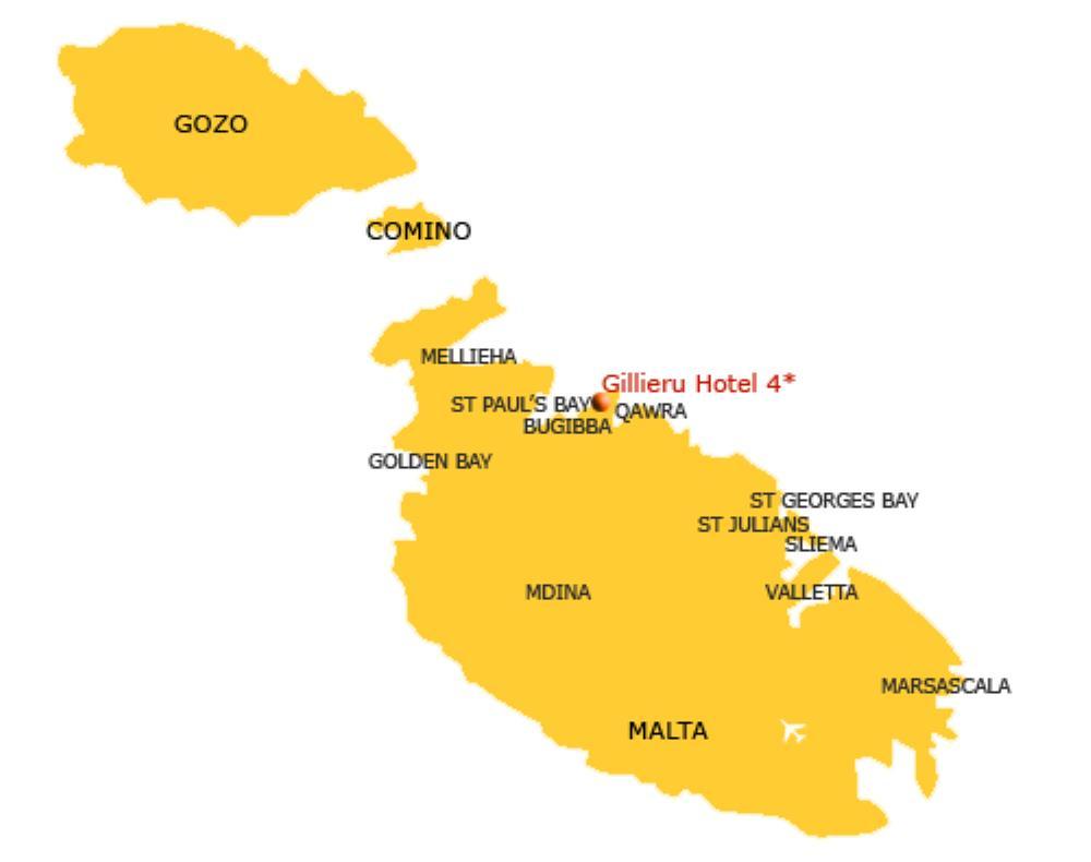 Gillieru Hotel map