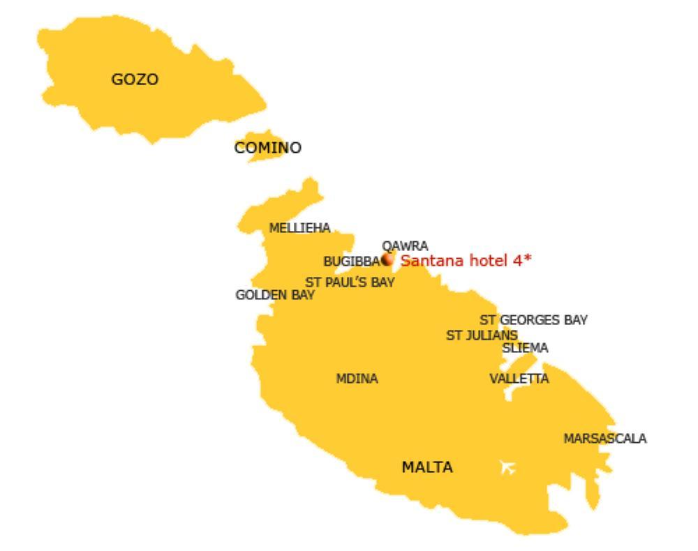 Malta map Santana